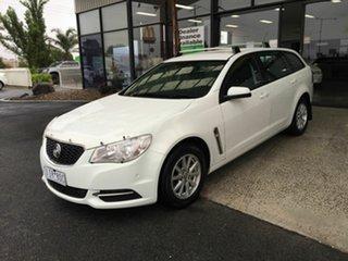 2014 Holden Commodore VF Evoke White 6 Speed Automatic Sportswagon.