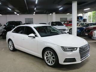 2016 Audi A4 B9 8W MY16 Sport S Tronic White 7 Speed Sports Automatic Dual Clutch Sedan.