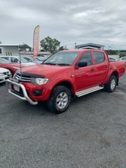 2014 Mitsubishi Triton MN MY15 GLX Double Cab Red 5 Speed Manual Utility