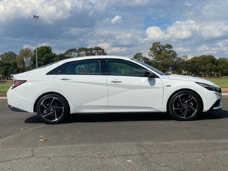 2021 Hyundai i30 CN7.V1 MY21 N Line D-CT Polar White 7 Speed Sports Automatic Dual Clutch Sedan.
