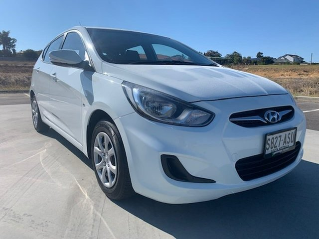 Used Hyundai Accent RB Premium Victor Harbor, 2012 Hyundai Accent RB Premium White 4 Speed Sports Automatic Hatchback