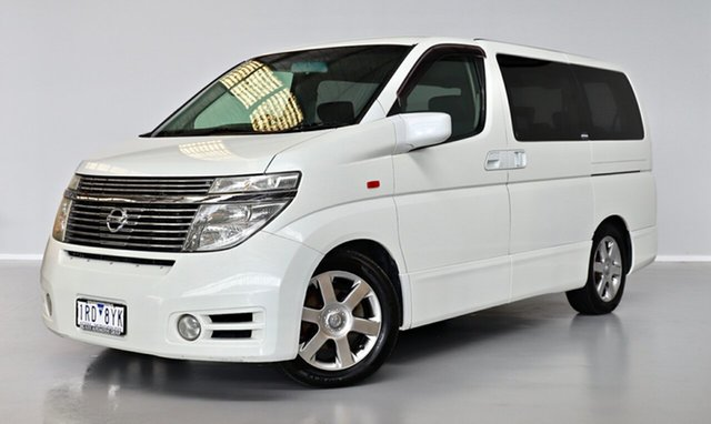 Used Nissan Elgrand E51 Highway Star Thomastown, 2004 Nissan Elgrand E51 Highway Star White 5 Speed Automatic Wagon