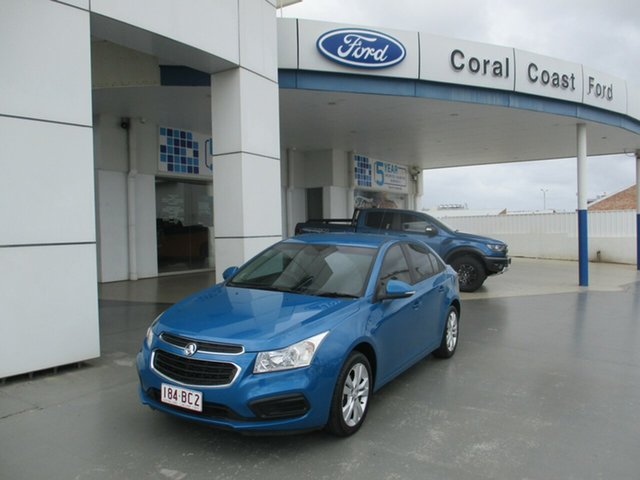 Used Holden Cruze JH MY14 Equipe Bundaberg, 2015 Holden Cruze JH MY14 Equipe Blue 6 Speed Automatic Sedan