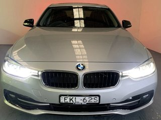 2016 BMW 3 Series F30 LCI 320d Sport Line Glacier Silver 8 Speed Sports Automatic Sedan.
