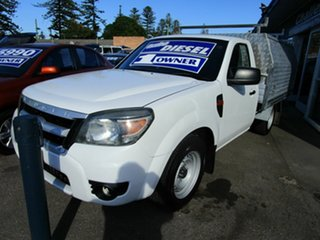 2009 Ford Ranger PJ 07 Upgrade XL (4x2) White 5 Speed Manual Pickup.