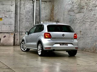 2016 Volkswagen Polo 6R MY16 81TSI DSG Comfortline Silver 7 Speed Sports Automatic Dual Clutch