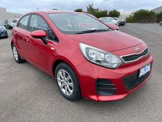 2015 Kia Rio UB MY16 S Red 4 Speed Sports Automatic Hatchback.
