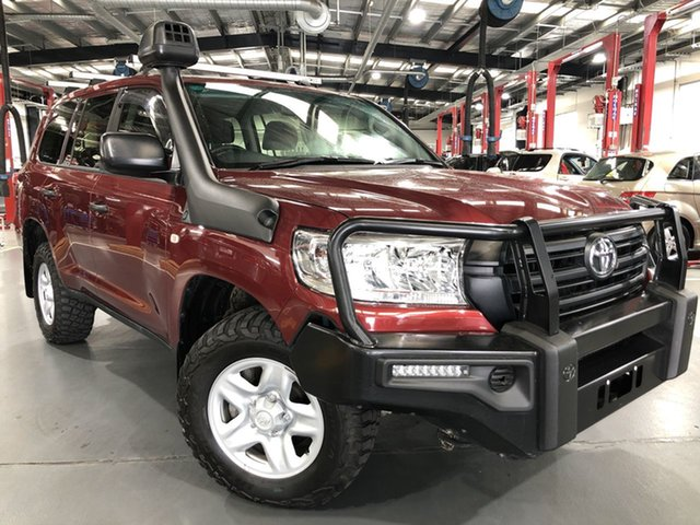 Pre-Owned Toyota Landcruiser VDJ200R GX Oakleigh, 2019 Toyota Landcruiser VDJ200R GX Merlot Red 6 Speed Sports Automatic Wagon