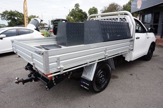 2016 Toyota Hilux TGN121R Workmate 4x2 Glacier White 5 Speed Manual Cab Chassis