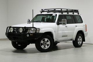 2014 Nissan Patrol GU Series 9 ST (4x4) White 5 Speed Manual Wagon.
