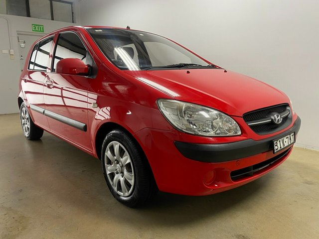 Used Hyundai Getz TB Upgrade S Phillip, 2008 Hyundai Getz TB Upgrade S Red 5 Speed Manual Hatchback