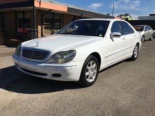 1999 Mercedes-Benz S-Class W220 S430 White 5 Speed Automatic Sedan