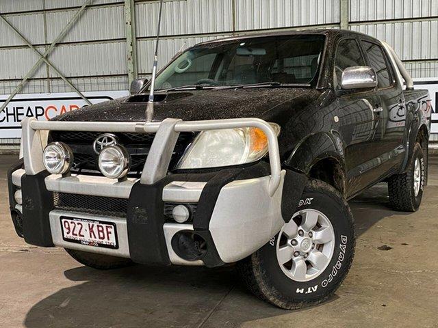 Used Toyota Hilux KUN26R MY05 SR5 Rocklea, 2005 Toyota Hilux KUN26R MY05 SR5 Black 5 Speed Manual Utility