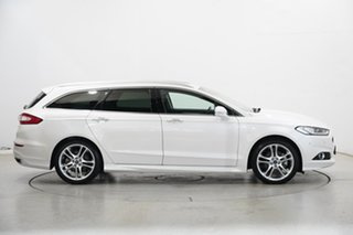 2018 Ford Mondeo MD 2018.25MY Titanium Pearl White 6 Speed Sports Automatic Dual Clutch Wagon