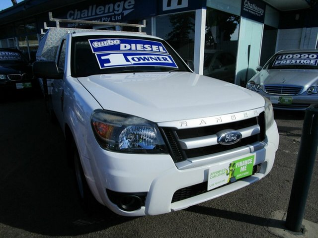 Used Ford Ranger PJ 07 Upgrade XL (4x2) Glenelg, 2009 Ford Ranger PJ 07 Upgrade XL (4x2) White 5 Speed Manual Pickup
