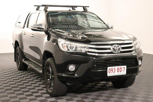 Used Toyota Hilux GUN126R SR5 Double Cab Acacia Ridge, 2016 Toyota Hilux GUN126R SR5 Double Cab Black 6 speed Automatic Utility