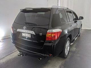 2009 Toyota Kluger GSU45R Grande AWD Black 5 Speed Sports Automatic Wagon
