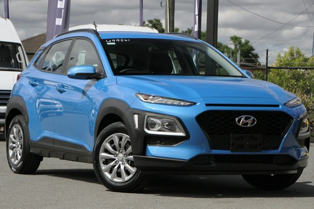 Used Hyundai Kona OS.2 MY19 Go 2WD Rocklea, 2019 Hyundai Kona OS.2 MY19 Go 2WD Blue Lagoon 6 Speed Sports Automatic Wagon