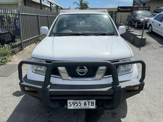 2012 Nissan Navara D40 S6 MY12 RX White 6 Speed Manual Cab Chassis.