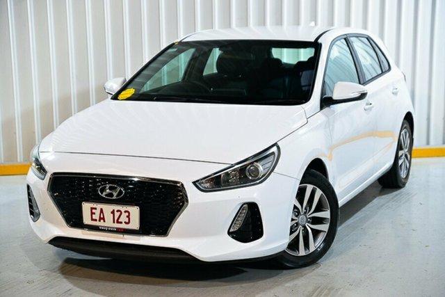 Used Hyundai i30 PD MY18 Active Hendra, 2018 Hyundai i30 PD MY18 Active White 6 Speed Sports Automatic Hatchback