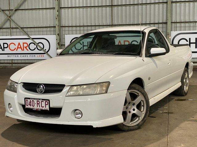 Used Holden Ute VZ MY06 SV6 Rocklea, 2007 Holden Ute VZ MY06 SV6 White 5 Speed Automatic Utility