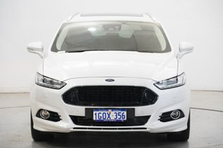 2018 Ford Mondeo MD 2018.25MY Titanium Pearl White 6 Speed Sports Automatic Dual Clutch Wagon.