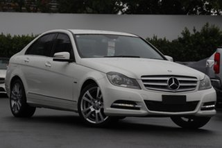 2012 Mercedes-Benz C-Class W204 MY12 C250 CDI BlueEFFICIENCY 7G-Tronic + Elegance White 7 Speed.