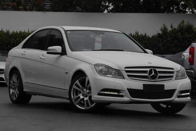 Used Mercedes-Benz C-Class W204 MY12 C250 CDI BlueEFFICIENCY 7G-Tronic + Elegance Mount Gravatt, 2012 Mercedes-Benz C-Class W204 MY12 C250 CDI BlueEFFICIENCY 7G-Tronic + Elegance White 7 Speed