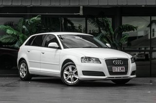 2009 Audi A3 8P MY09 TFSI Sportback S Tronic Attraction White 7 Speed Sports Automatic Dual Clutch.