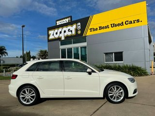 2014 Audi A3 8V MY15 Attraction Sportback S Tronic White 7 Speed Sports Automatic Dual Clutch.