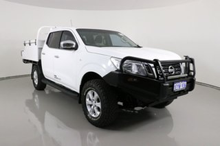 2015 Nissan Navara NP300 D23 RX (4x4) White 6 Speed Manual Double Cab Chassis.