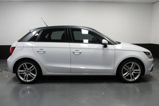 2012 Audi A1 8X MY13 Ambition Sportback S Tronic White 7 Speed Sports Automatic Dual Clutch