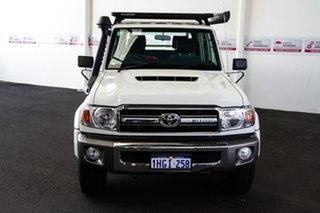 2020 Toyota Landcruiser VDJ79R GXL Double Cab French Vanilla 5 Speed Manual Cab Chassis.