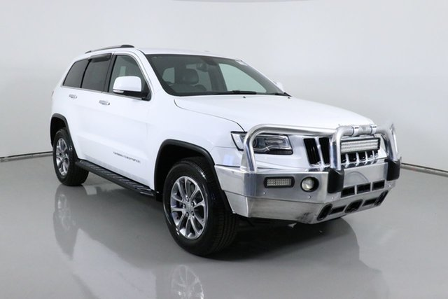 Used Jeep Grand Cherokee WK MY15 Limited (4x4) Bentley, 2014 Jeep Grand Cherokee WK MY15 Limited (4x4) White 8 Speed Automatic Wagon