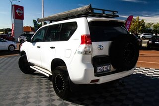 2012 Toyota Landcruiser Prado KDJ150R GX White 6 Speed Manual Wagon.