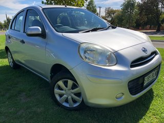2012 Nissan Micra K13 ST Silver 4 Speed Automatic Hatchback.
