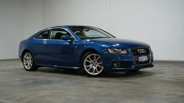 Used Audi A5 8T MY11 S Tronic Quattro Welshpool, 2011 Audi A5 8T MY11 S Tronic Quattro Blue 7 Speed Sports Automatic Dual Clutch Coupe