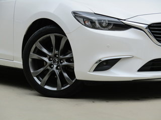 2016 Mazda 6 GL1021 Atenza SKYACTIV-Drive White 6 Speed Sports Automatic Sedan.