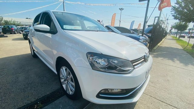 Used Volkswagen Polo 6R MY17 81TSI DSG Comfortline Maidstone, 2016 Volkswagen Polo 6R MY17 81TSI DSG Comfortline White 7 Speed Sports Automatic Dual Clutch