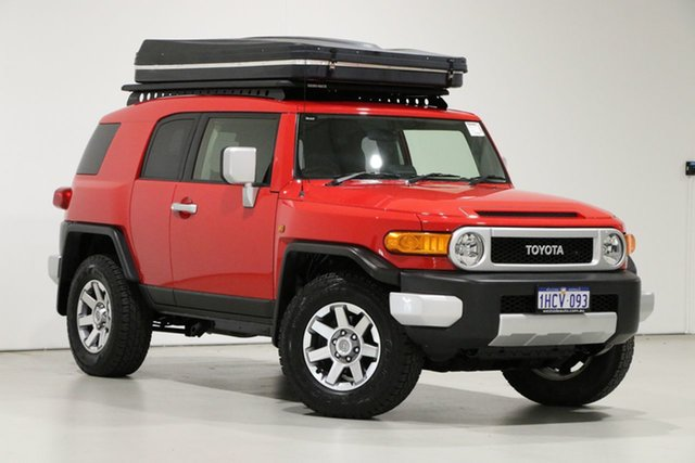 Used Toyota FJ Cruiser GSJ15R MY14 Bentley, 2015 Toyota FJ Cruiser GSJ15R MY14 Red 5 Speed Automatic Wagon