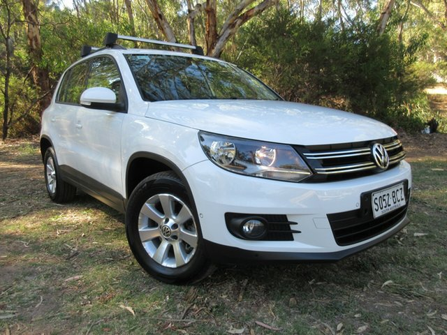 Used Volkswagen Tiguan 5N MY14 132TSI DSG 4MOTION Pacific Reynella, 2014 Volkswagen Tiguan 5N MY14 132TSI DSG 4MOTION Pacific White 7 Speed Sports Automatic Dual Clutch