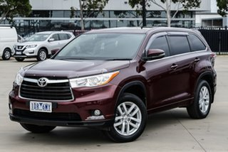 2014 Toyota Kluger GSU50R GX 2WD Red 6 Speed Sports Automatic Wagon.