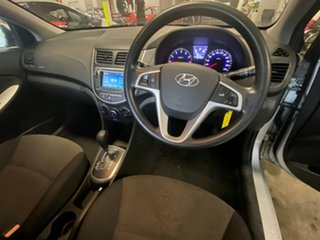 2013 Hyundai Accent RB Active Metallic Silver 4 Speed Sports Automatic Sedan