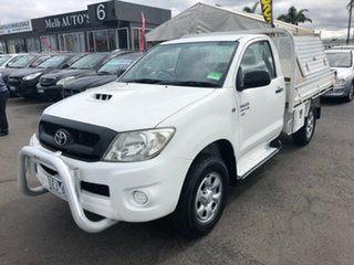 2009 Toyota Hilux KUN26R 09 Upgrade SR (4x4) White 5 Speed Manual X Cab Cab Chassis.