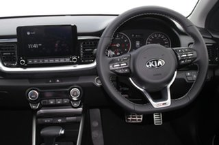 2021 Kia Stonic YB MY21 GT-Line DCT FWD Signal Red & Aurora Black 7 Speed