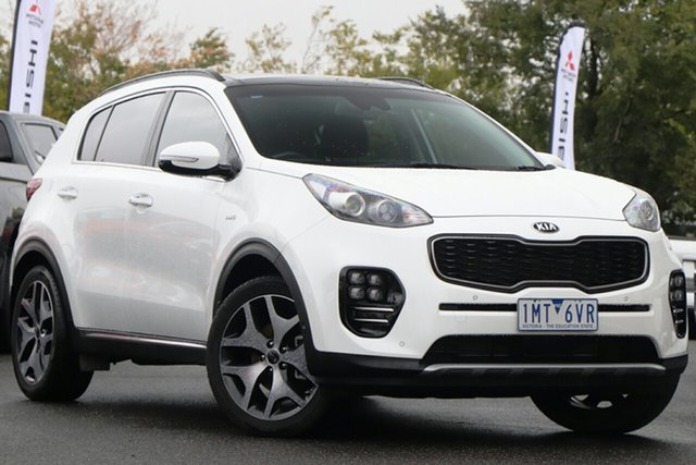 Used Kia Sportage QL MY18 GT-Line AWD Essendon North, 2018 Kia Sportage QL MY18 GT-Line AWD White 6 Speed Sports Automatic Wagon