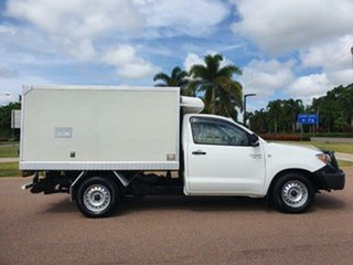 2008 Toyota Hilux GGN15R MY08 SR 4x2 White 5 Speed Automatic Cab Chassis