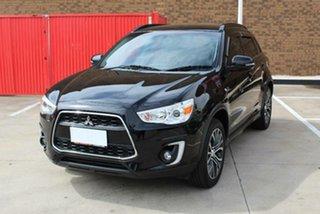 2015 Mitsubishi ASX XB MY15 LS (2WD) Black Continuous Variable Wagon.