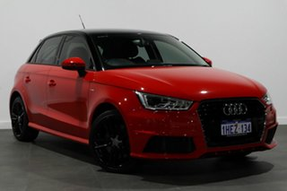 2016 Audi A1 8X MY16 S Line Sportback S Tronic Red 7 Speed Sports Automatic Dual Clutch Hatchback.