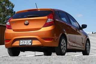 2015 Hyundai Accent RB3 MY16 Active Orange 6 Speed Constant Variable Hatchback